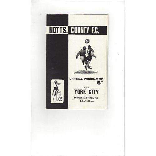 1967/68 Notts County v York City Football Programme + League Review