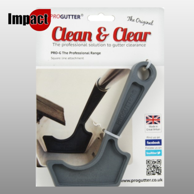 ProGutter Pro Gutter square attachment for cleaning gutters plus FREE UK delivery