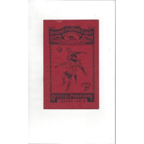 1937/38 Charlton Athletic v Aston Villa FA Cup Replay Football Programme @ Arsenal