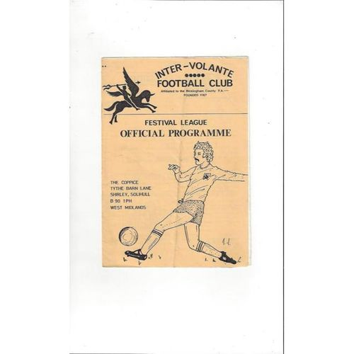 Inter Volante Home Football Programmes