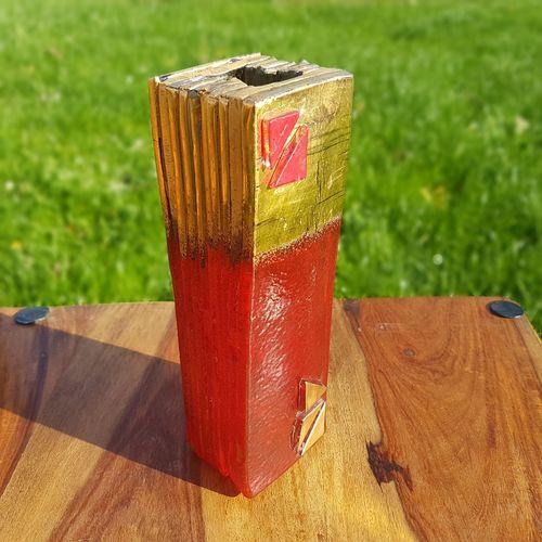 Kaleido Red Tower Vase