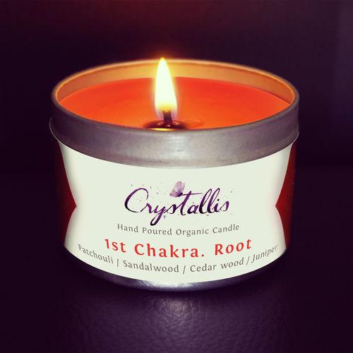 Organic Chakra Candle (Root Muladhara) - 1st