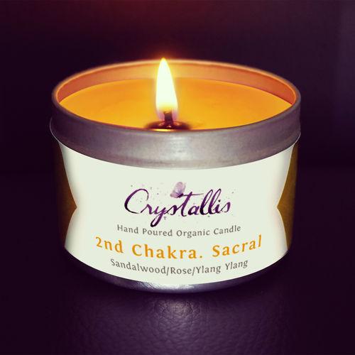 Organic Chakra Candle (Sacral Svadhisthana) - 2nd