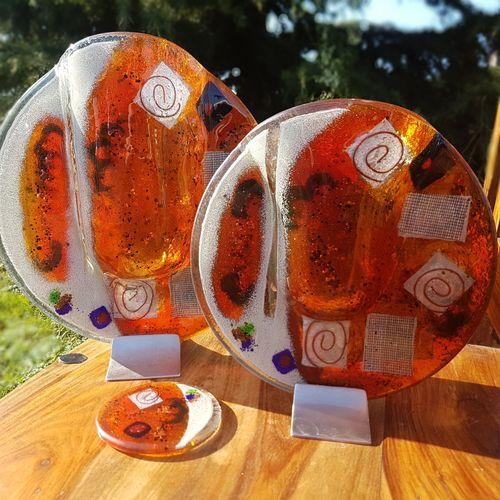 Orange Zest Round Vase