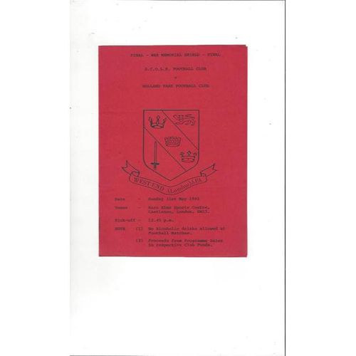 S.C.O.L.R. Home Football Programmes