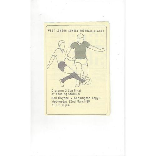 Nell Gwynne Home Football Programmes