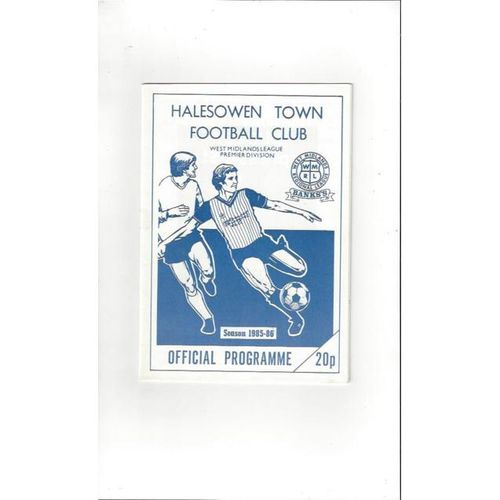 1985/86 Halesowen Town v Irthlingborough Diamonds FA Cup Football Programme