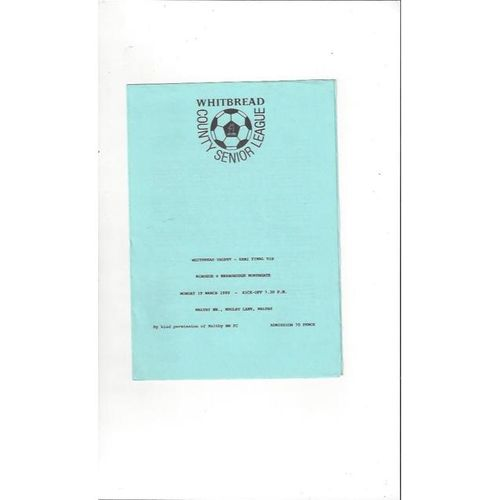 Windsor Home Football Programmes