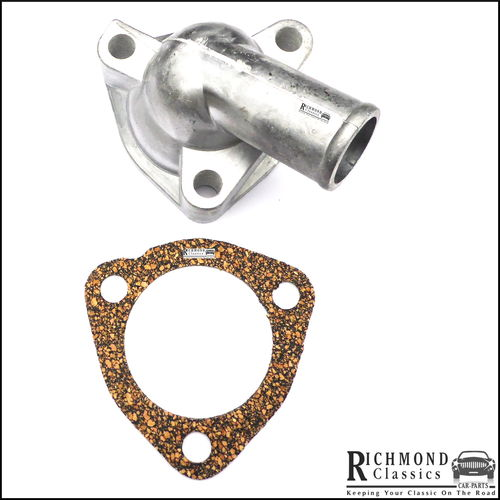 Classic Mini Thermostat Housing and Gasket - 12G103, GTG101