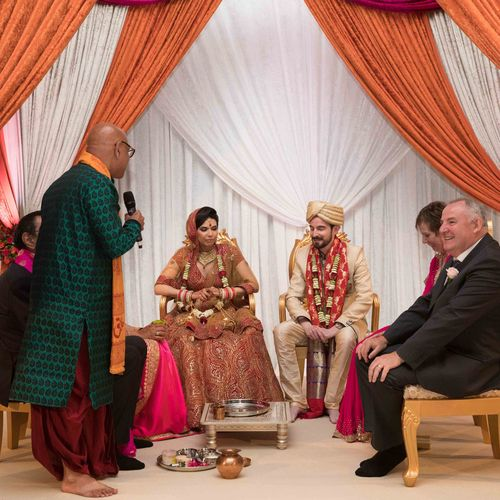 THE WEDDING CEREMONY IN THE MANDAP