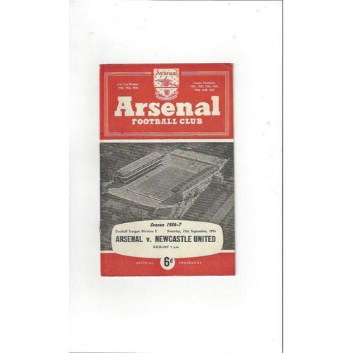 1956/57 Arsenal v Newcastle United Football Programme