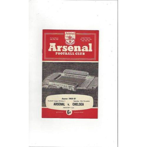 1960/61 Arsenal v Chelsea Football Programme
