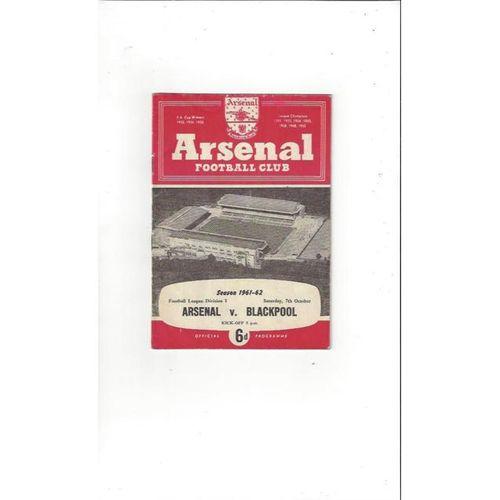 Arsenal v Blackpool 1961/62