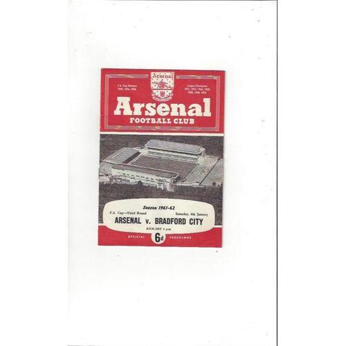 Arsenal v Bradford City FA Cup 1961/62