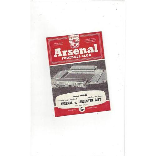 Arsenal v Leicester City 1961/62