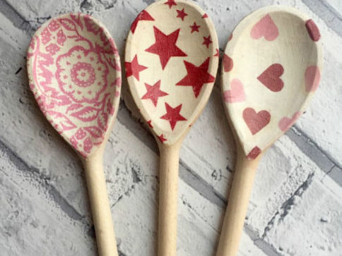 Decoupage Wooden Spoon
