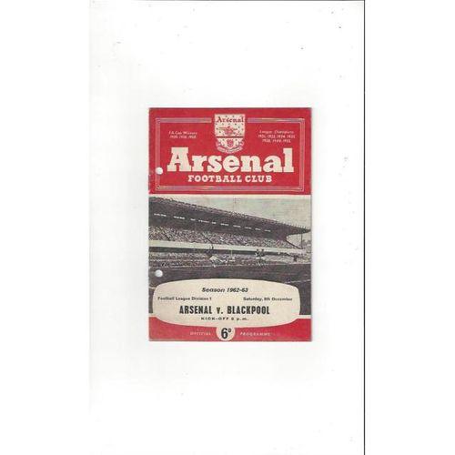 Arsenal v Blackpool 1962/63