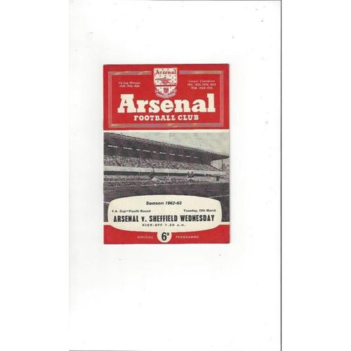 Arsenal v Sheffield Wednesday FA Cup 1962/63