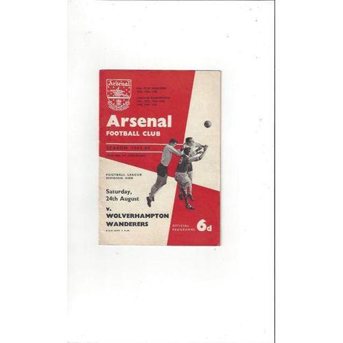 Arsenal v Wolves 1963/64
