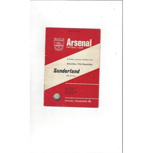 Arsenal v Sunderland 1966/67