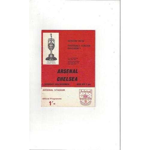 Arsenal v Chelsea 1967/68