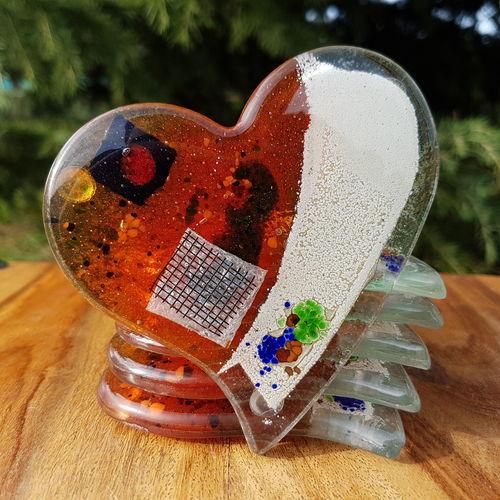 Orange Zest Coaster (Heart)