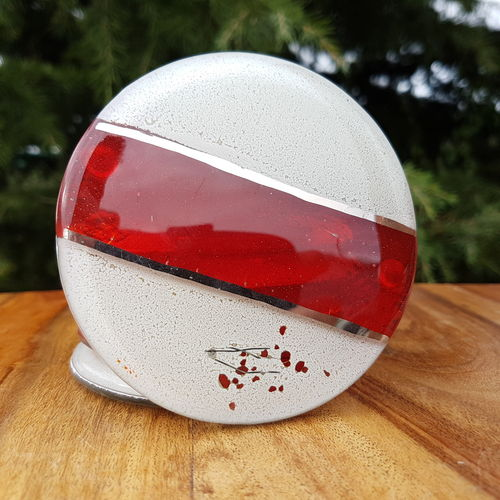 Red, White & Platinum Coaster (Round)
