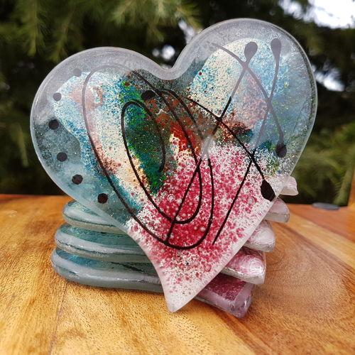 Galaxy Coasters (Heart)