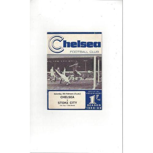 Chelsea v Stoke City FA Cup 1968/69