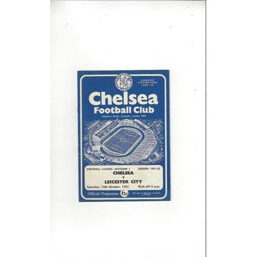 Chelsea v Leicester City 1961/62