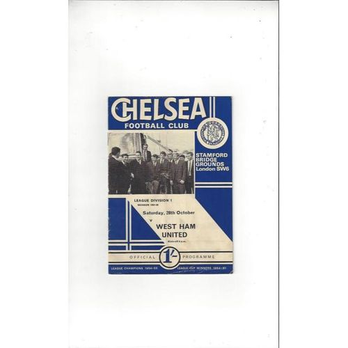 Chelsea v West Ham United 1967/68