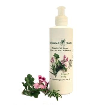 Rose geranium and Rosemary Liquid Soap