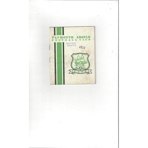 Plymouth Argyle v Derby County 1966/67