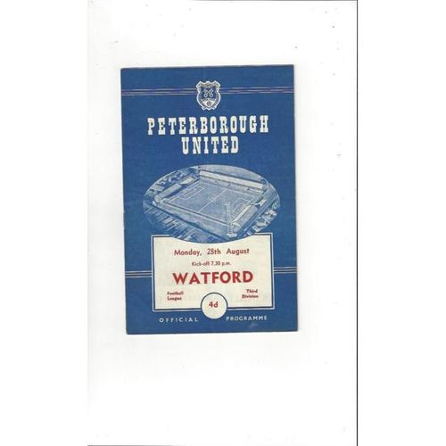 1961/62 Peterborough United v Watford Football Programme