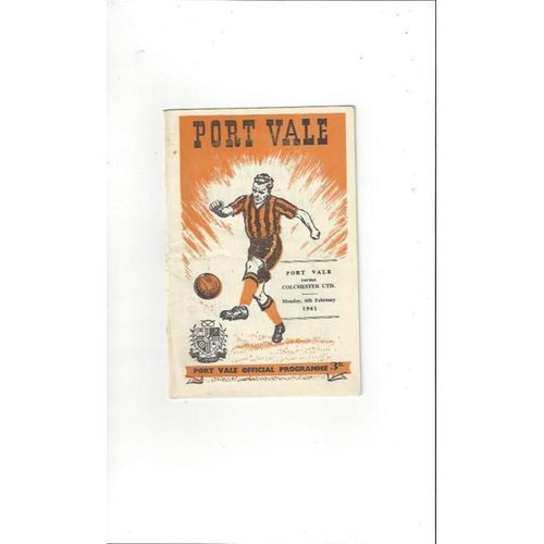1960/61 Port Vale v Colchester United Football Programme