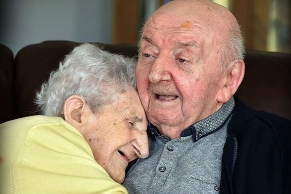 Mother aged 98 moves into care home to look after her 80-year-old son