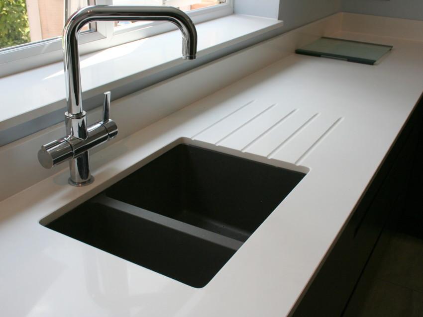 Quartz Kitchen Worktops, Granite Worktops, Kitchen Worktops London, undermount sink