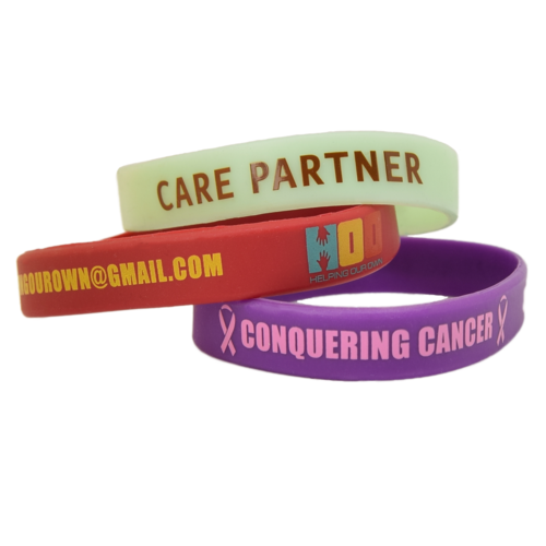 12mm Silk Screened Wristbands