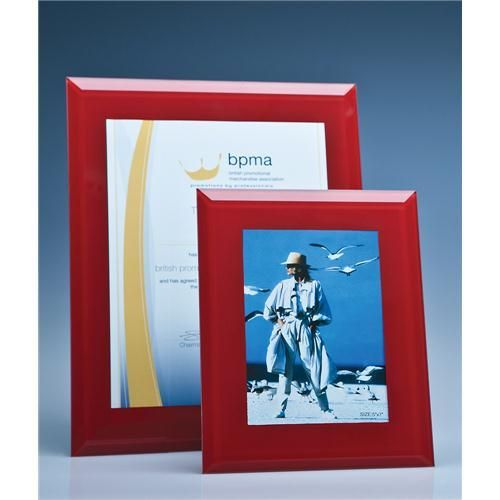 Red Glass Frame for A4 Photo or Certificate