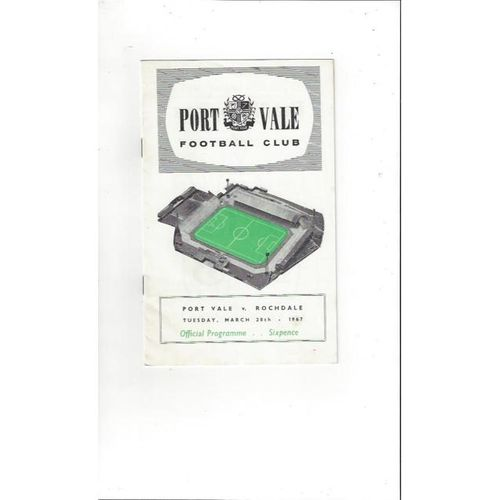 1966/67 Port Vale v Rochdale Football Programme