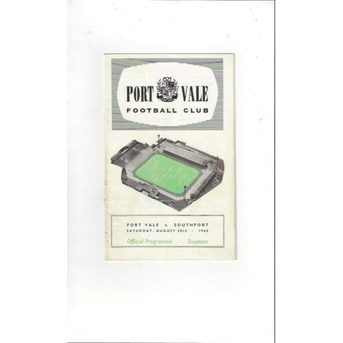 1966/67 Port Vale v Southport Football Programme