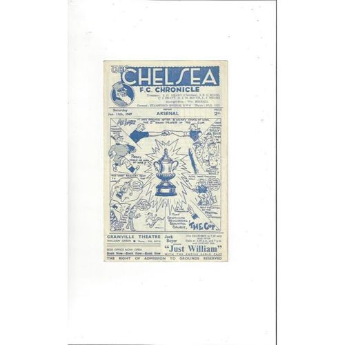 1946/47 Chelsea v Arsenal FA Cup Football Programme