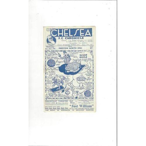 1946/47 Chelsea v Preston Football Programme