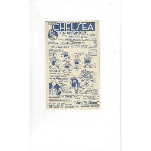 1946/47 Chelsea v Wolves Football Programme