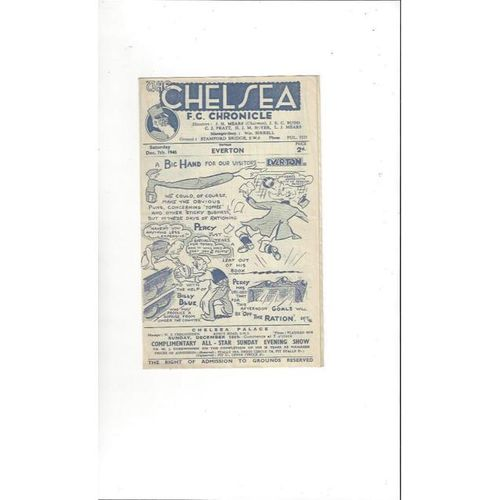 1946/47 Chelsea v Everton Football Programme