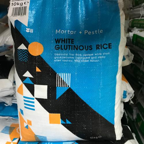 Mortar + Pestle White Glutinous Rice 10kg