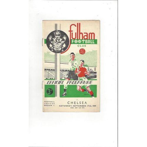 1949/50 Fulham v Chelsea Football Programme
