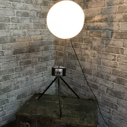 Upcycled Camera Lamp