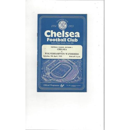 1954/55 Chelsea v Wolves Championship Season Football Programme