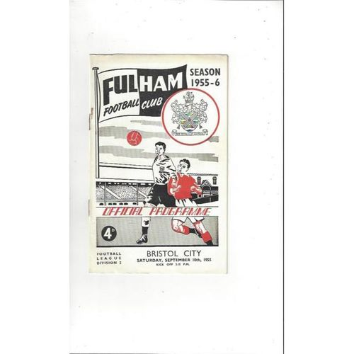 1955/56 Fulham v Bristol City Football Programme